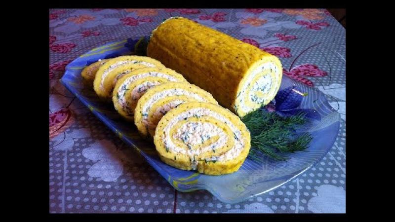 Рулет из Омлета с Плавленными Сырками/Roll The Omelet/Простой Рецепт(Очень Вкусно и Быс...