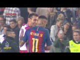 Neymar pushed Granada's Ruben Vezo down the stairs