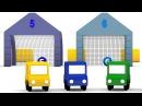 Cartoni animati per bambini Macchinine colorate e una sfida ai rigori