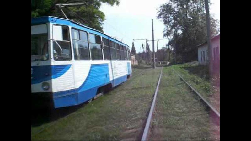 Die Straßenbahn in Konotop - Трамвай у Конотопі (21.07.2010)