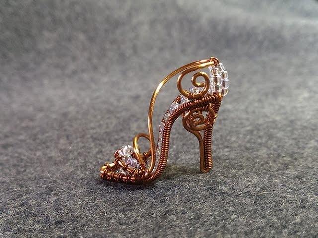 Mini shoe pendant - Cinderella shoe - chiếc giày của cô bé Lọ Lem 5