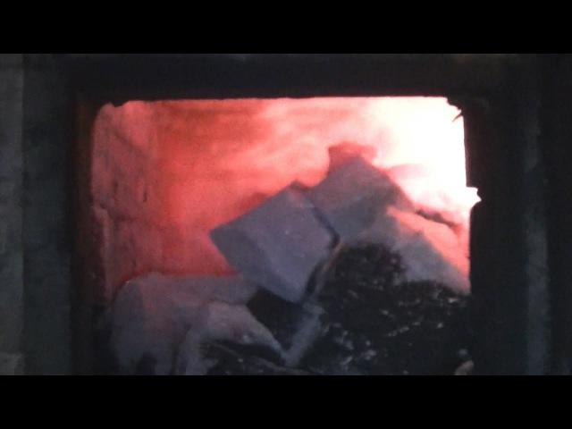 Протопка семейной бани (печь Е.В. Колчина Термофор Ангара) Каменка прямого нагр...