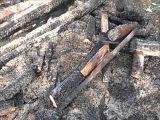 Опилки с гипсом  утеплитель стен. Тест огнём и временем.