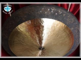 Тибетский Гонг Звуки Тибета - 80 см. (2) Поющая чаша, поющие чаши, йога, шавасана, медитация, исцеление, созерцание, нада йога.
