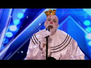 Клоун удивляет зрителей исполнением Sia's - Chandelier на шоу талантов