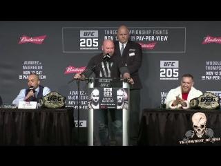 UFC 205: Ярчайшие моменты предматчевой пресс-конференции