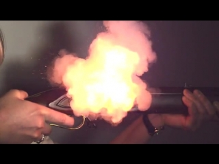 A Battle of Waterloo period Model 1805 Baker Rifle being fired in slow motion   AC/DC Big Gun
