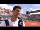 Novak Djokovic Interview After Match vs Sousa - RG 2017 HD