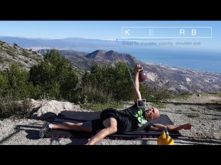 Kettlebell armbar for shoulder mobility and stability