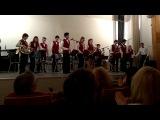 Эстрадный оркестр  ДМШ 34 на отчетном концерте, посвященном 10-летию Духового оркестра