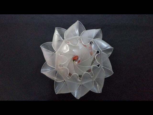 Como Fazer Enfeite de Mesa para Doces com Garrafa Plástica (Passo a Passo)- Reciclando com Arte
