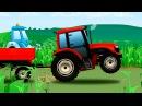 Мультики про машинки для детей Трактор едет на ферму Сборник все серии подряд