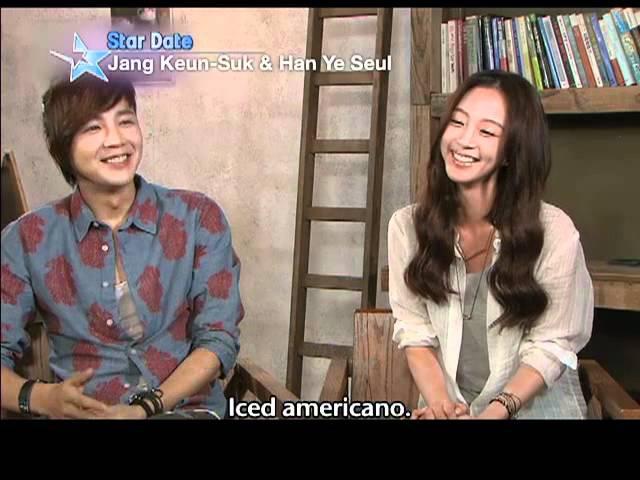 [Star Date] Jang Keun-suk Han Ye-seul on a coffee ad