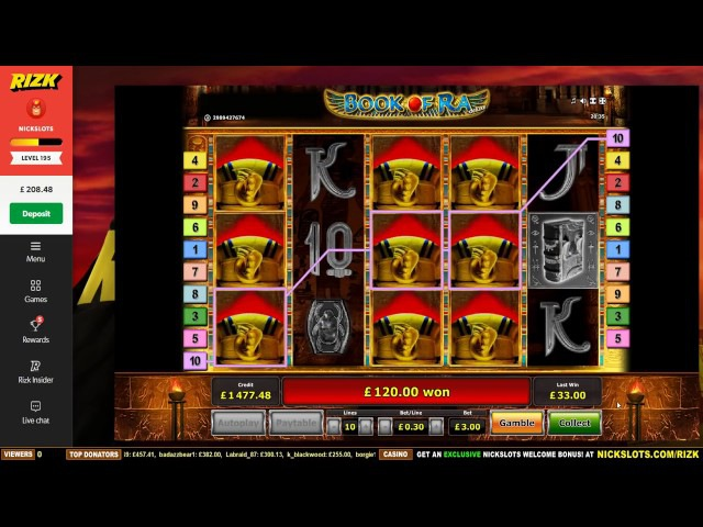 HUGE WIN on Book of Ra Slot £3 Bet!