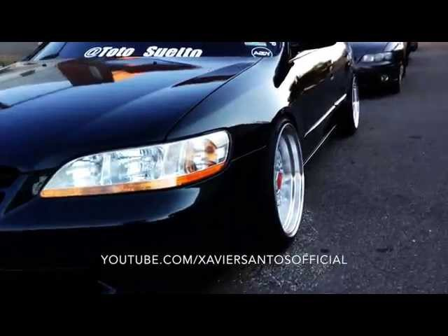 Street Rides Tv Episode 2 - Slammed Green Honda Accord 17'' Inch BBS Wheels Chrome Red Center Caps.