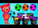 Mega Gummy Bear learn colors with Balls toys Finger Family Rhymes for kids Gummybear fun toys