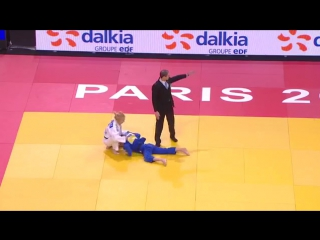 Удушение. Charline VAN SNICK (BEL) - Reka PUPP (HUN) U48, Grand Slam Paris 2016