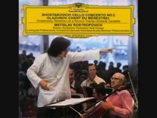 Shostakovich Cello Concerto No. 2 ; Rostropovich (vc),Seiji Ozawa Boston Symphony 1975