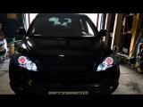 Honda CR-V ангельские и дьявольские глазки RGB