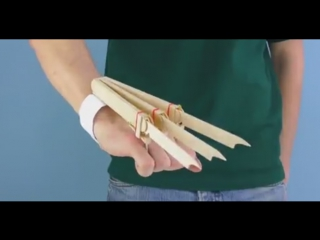 DIY Logan X-Men Wolverine Automatic Claws from 15 Popsicle Sticks