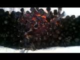 псковская область сжигаем штабель дерева