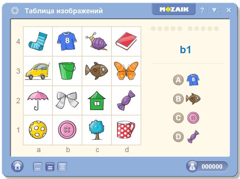 Таблица с изображением знаков-символов