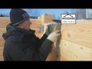 Монтаж опор балок перекрытий в брусовом доме