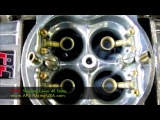 Slow motion video Custom Calibrated Holley Performance Carburetor.