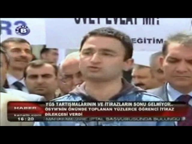 Kanal B Haberler YGS İptal Davası Turgay Karakuş