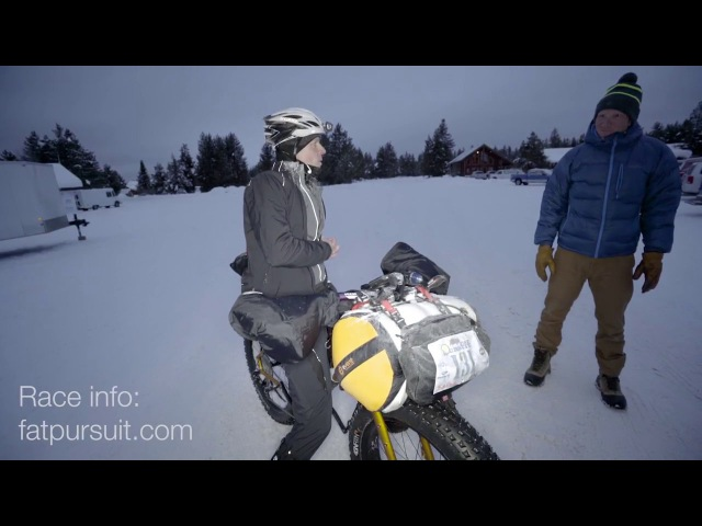 Fat Pursuit 200 miles fatbike race on snow in Yellowstone National Park