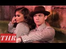 'Spider Man Homecoming' Stars Zendaya Tom Holland on Their First Meeting THR Cover Shoot