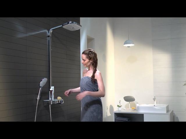 Душевая система Hansgrohe Raindance Select E 300 3jet ST Showerpipe 27127400
