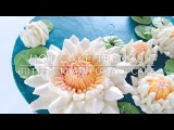 HOT CAKE TRENDS 2016 Buttercream Water Lily cake - How to make by Olga Zaytseva