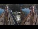 Little Girl on a Horrible Bridge 3D !Spirit drowned!3D VIDEO