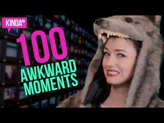 100 VERY AWKWARD MOMENTS! | KindaTV ft. Natasha Negovanlis