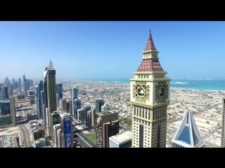 Дубаи с высоты полёта дрона, 4К