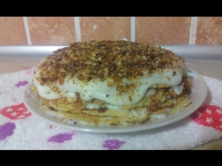 Торт Наполеон заварной крем (по Дюкану)/Cake Napoleon (by Dyukanu)