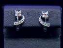 Серьги в белом золоте 585 пробы 3,1 грамма с бриллиантами 0,33 карата