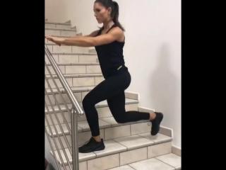 Тренировка на ступеньках