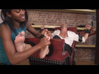 Tickle abuse - socks come off