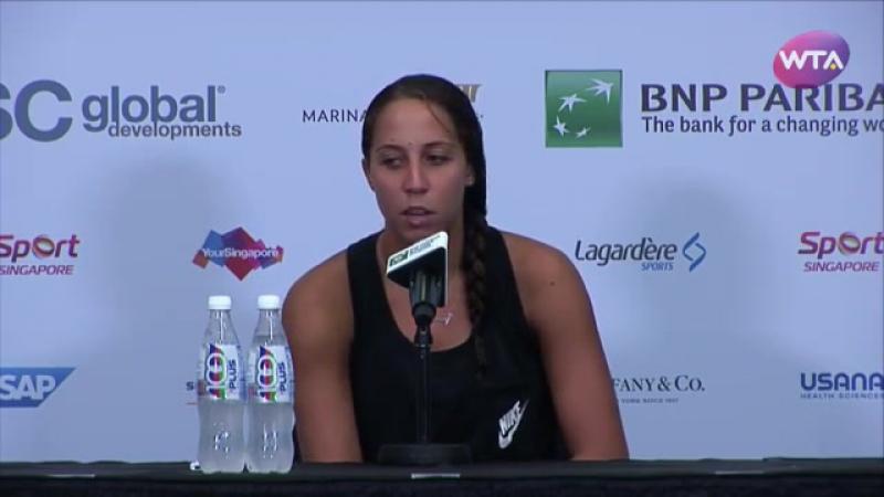 Мэдисон Кис я в шоке от Кузнецовой! Не понимаю зачем она отстригла себе волосы. Пресс-конференция 25.10.2016. WTA Finals