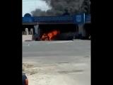 ЧП в Таразе горит машина.