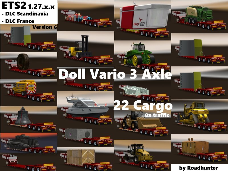 Doll Vario 3Achs with new backlight and in traffic v 6.1