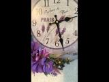 Часы с лавандой