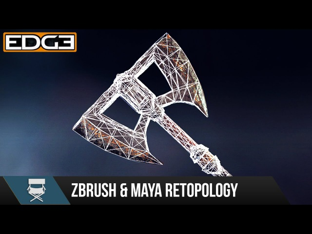 2 Game Axe Asset Creation Series - Retopology in Zbrush Maya HD