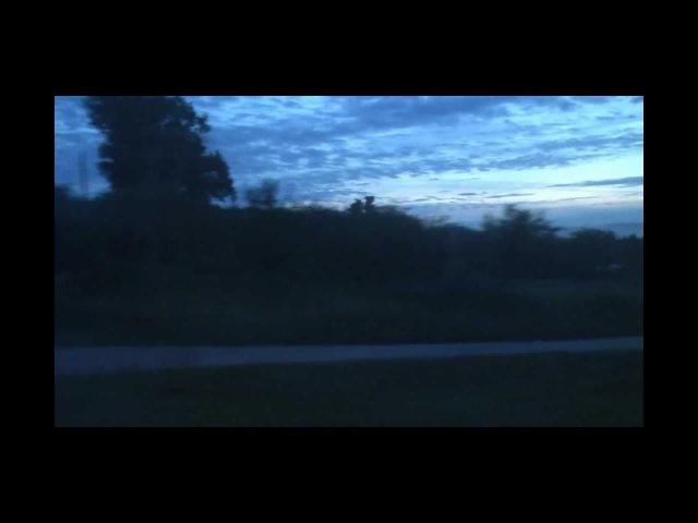 Вид из окна поезда Неман Москва - Гродно
