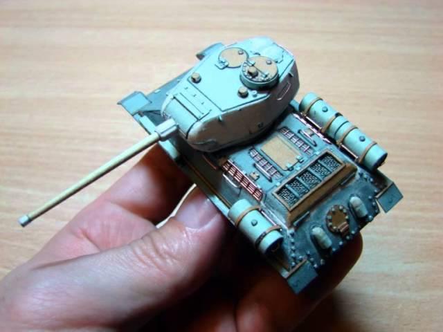 T-34-85 (из картона в масштабе 172)
