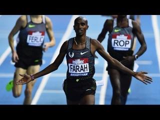 Mo Farah sets European Record at 5000m Müller Indoor Grand Prix 2017