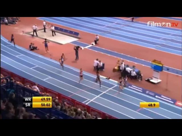 Zuzana Hejnová wins 400m Women Birmingham Indoor Grand Prix 2017