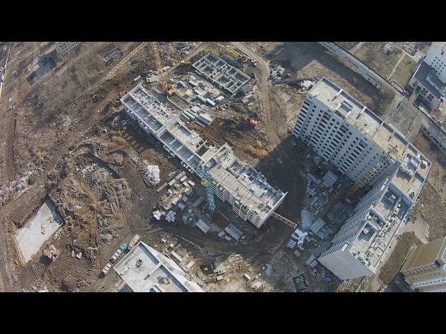 Обзор ЖК Салтовский, ЖК Победа, ЖК Драгоманова с высоты птичьего полета